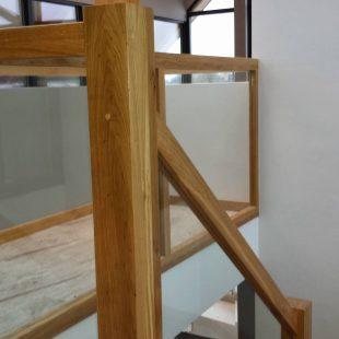 Balustrade met glas