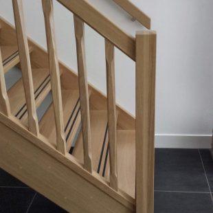 Landelijke houten trap