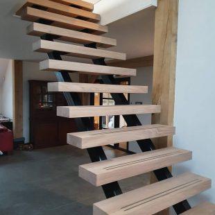 Moderne houten trap