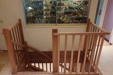 Houten balustrade