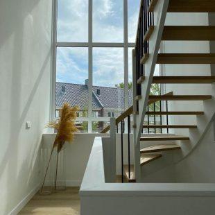 Eiken onderkwart trap
